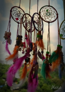 The native American legend says dream catchers keep bad dreams out and pass on only good dreams...